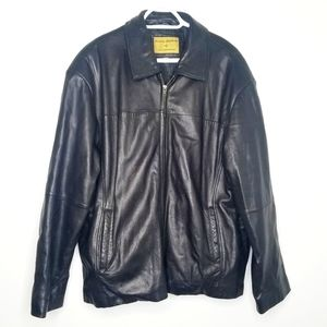 Other - Boston Harbour leather zip up jacket black XL
